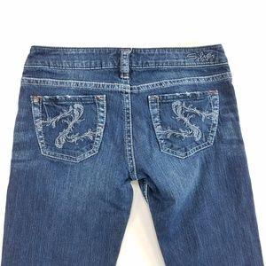 Silver Jeans Santorini Capri Cropped Denim Pants
